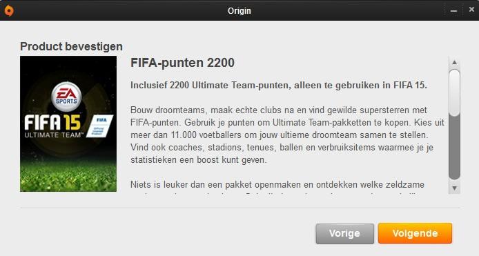 FIFA 15 FUT Punten/Munten/Coins Kopen bestellen