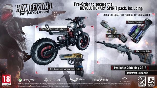 Homefront the Revolution Spirit Pack DLC
