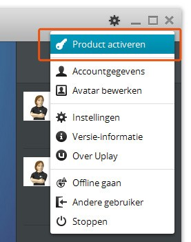 Uplay cdkey/code activeren